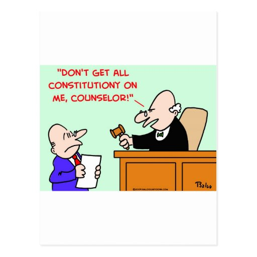 constitución del juez tarjeta postal