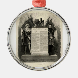 Constitución francesa de la Declaración de Adorno Navideño Redondo De Metal