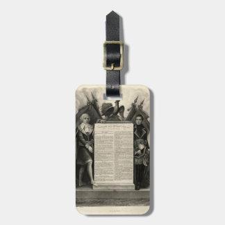 Constitución francesa de la Declaración de Derecho Etiquetas Para Maletas