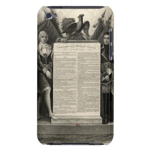 Constitución francesa de la Declaración de Derecho Case-Mate iPod Touch Coberturas