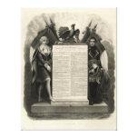 Constitución francesa de la Declaración de Derecho Impresion De Lienzo