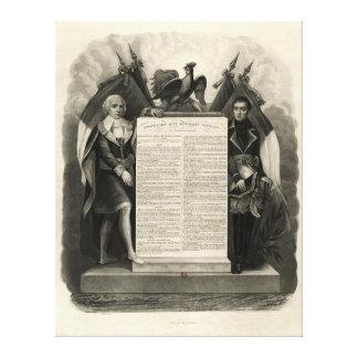 Constitución francesa de la Declaración de Derecho Lona Envuelta Para Galerias