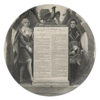 Constitución francesa de la Declaración de Derecho Platos