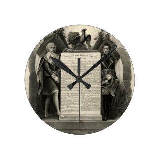 Constitución francesa de la Declaración de Derecho Reloj Redondo Mediano
