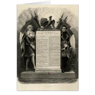 Constitución francesa de la Declaración de Derecho Tarjeta De Felicitación