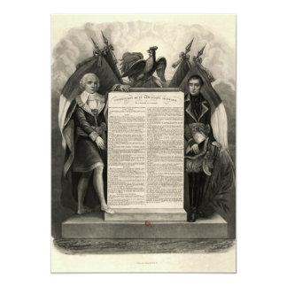 """Constitución francesa de la Declaración de Invitación 5"""" X 7"""""""