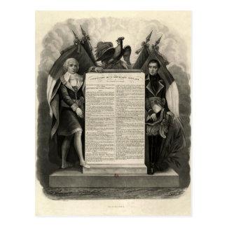 Constitución francesa de la Declaración de Tarjeta Postal