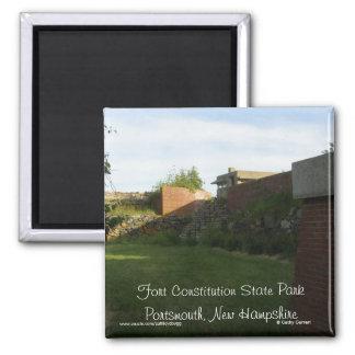 Constitución Portsmouth New Hampshire del fuerte Imán Cuadrado