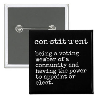 Constituent Definition Town Hall Name Tag Button