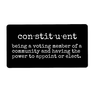 Constituent Sticker Town Hall Name Tag
