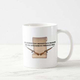 Constituion Defines Our Freedoms Classic White Coffee Mug