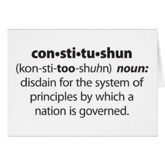 Constitushun Card