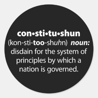 Constitushun Classic Round Sticker