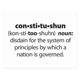 Constitushun Postcard