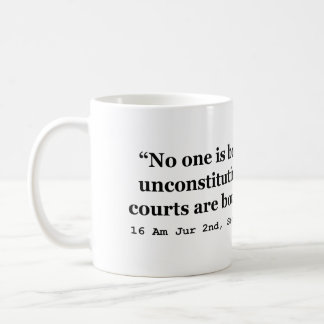 Constitution 16 Am Jur 2nd Sec 177 late 2d Sec 256 Classic White Coffee Mug