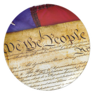 Constitution 4th Of July July 4th Independence Melamine Plate