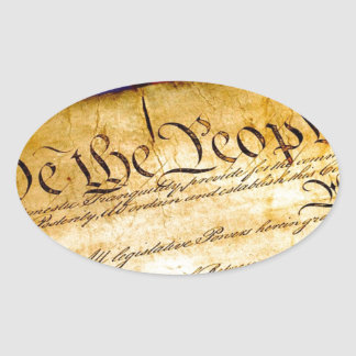 Constitution 4th Of July July 4th Independence Oval Sticker