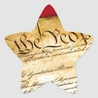 Constitution 4th Of July July 4th Independence Star Sticker