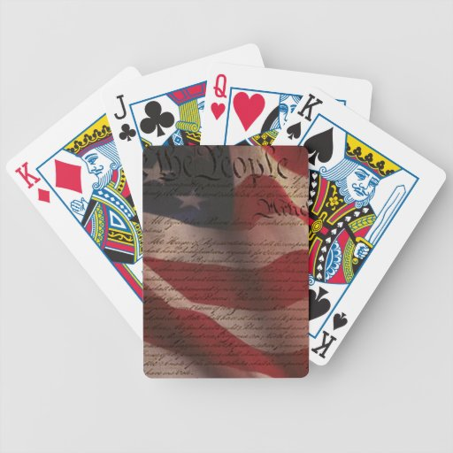 Constitution and Flag Bicycle Card Deck