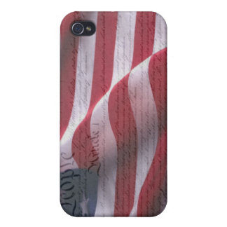 Constitution and Flag Case For iPhone 4