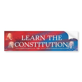 Constitution Bumper Sticker bumpersticker