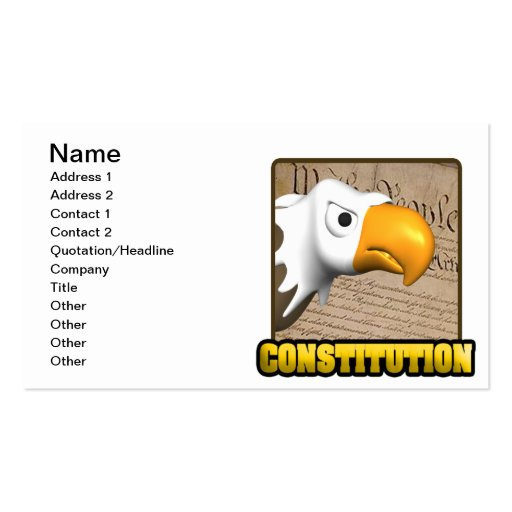 Constitution Business Cards