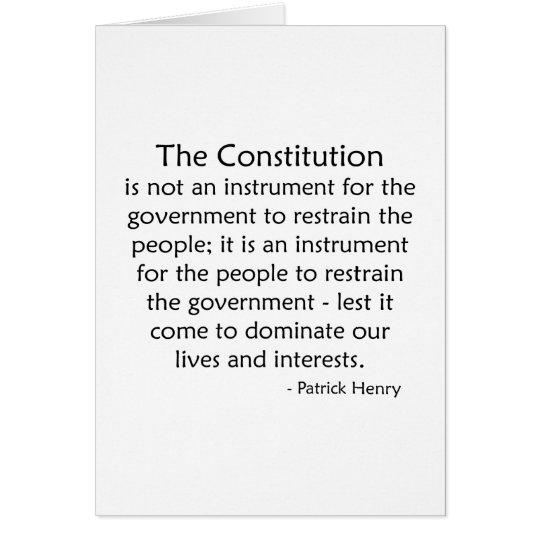 Constitution Card
