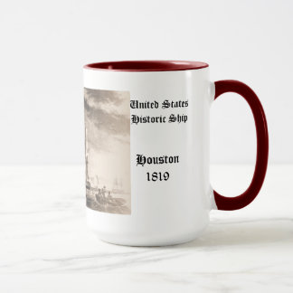 Constitution in action United States Historic ship Mug