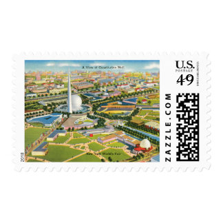 Constitution Mall at the World's Fair Postage Stamps