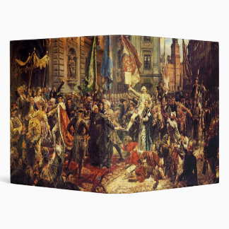 Constitution of May 3 1791 by Jan Matejko in 1891 3 Ring Binder