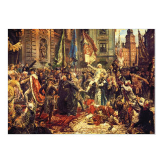 Constitution of May 3 1791 by Jan Matejko in 1891 Card