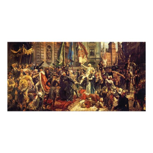 Constitution of May 3 1791 by Jan Matejko in 1891 Customized Photo Card