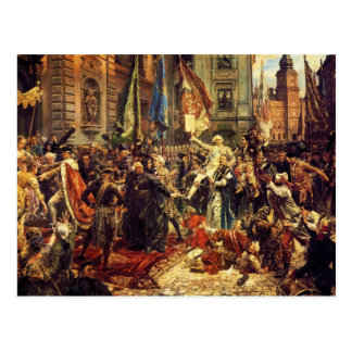Constitution of May 3 1791 by Jan Matejko in 1891 Postcard