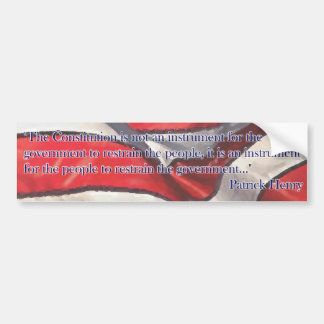 Constitution Quote by Patrick Henry - Flag Bumper Sticker