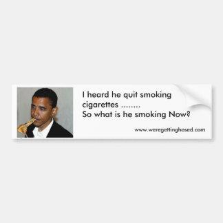 Constitution Smoking Obama Car Bumper Sticker