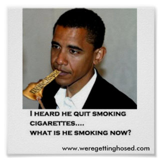 Constitution Smoking Obama Poster