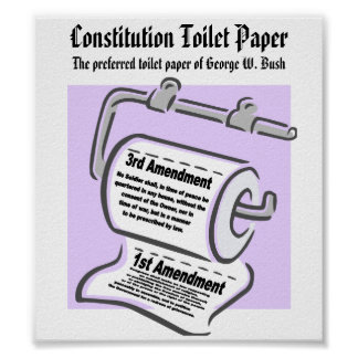 Constitution Toilet Paper Poster