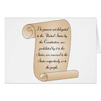 Constitutional Amendment 10 Card