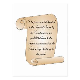 Constitutional Amendment 10 Postcard