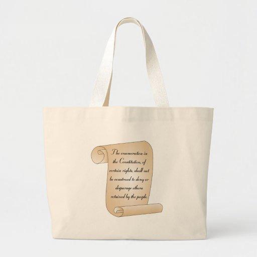 Constitutional Amendment 9 Canvas Bag