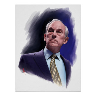 Constitutional Champion Ron Paul Suit and Tie Bust Poster