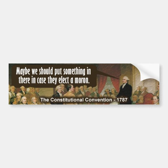 Constitutional convention bumper sticker
