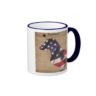 Constitutional Dachshund Ringer Coffee Mug