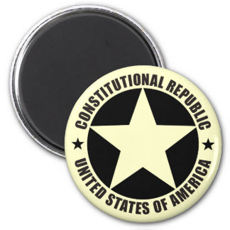 Constitutional Republic 2 Inch Round Magnet