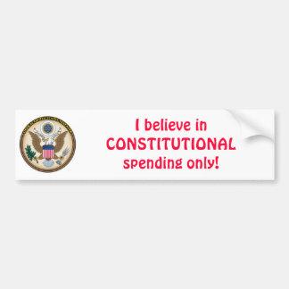 Constitutional spendng car bumper sticker
