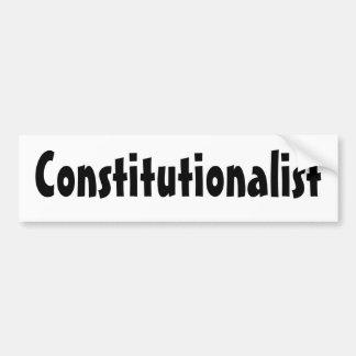 Constitutionalist Car Bumper Sticker