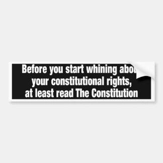 constitutionalrights pegatina de parachoque