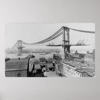 Construcción 1909 de New York City del puente de M Impresiones
