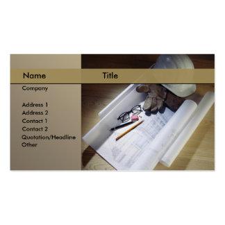 construcción/arquitecto tarjetas de visita