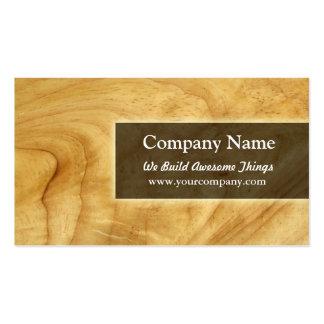 construcción/carpintería tarjetas de visita